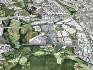 Terrenys del Centre Direccional, on anirà el macro-centre comercial. Imatge: pemb.cat.