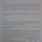 Carta enviada a Carme Carmona en 2011