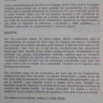 Carta enviada en 2010 per les Associacions de veïns i veïnes