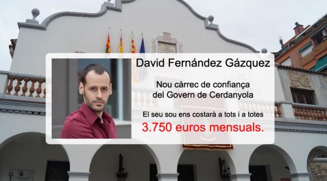 David Fernández Gázquez, tercer càrrec de confiança del Govern