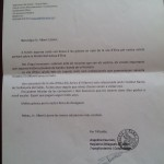Carta d'agraïment pel reportatge