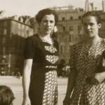 María García Torrecillas (Albanchez, Almeria) i Elisabeth Eidebenz, infermeres a la Maternitat d'Elna