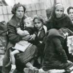 Dones i nens durant l'èxode republicà cap a França