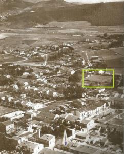 Imatge: Imatge de Cerdanyola d'aquells temps, amb el camp de la Cabrera ressaltat (Eugeni Dols).
