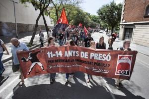 Manifestació CGT en suport de som 27 i més.