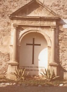 Cruz de los Caídos fins l'any 1979 (Arxiu Lázaro)