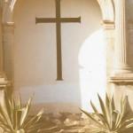 Aspecte de la creu un cop esborrades les lletres (Arxiu Lázaro)