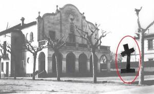 Muntatge amb la localització de la Cruz de los Caídos fins l'any 1948