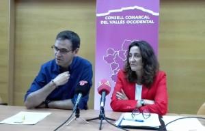 La presidenta de la Diputació de Barcelona i el president del CC del Vallès Occidental han explicat els acords presos avui