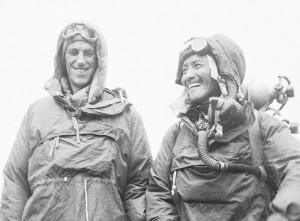 Edmund Hillary i Tenzing Norgay al 1953. Imatge: National Geographic