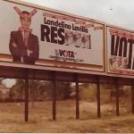 Durant les estones perdudes els Nacionalistes d'Esquerra ens dedicàvem a fer broma sobre el candidat d'UCD, Landelino Lavilla.  Arxiu: Albert Lázaro