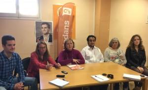 Laura Casado, en una reunió de Ciutadans