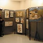 Exposició d'algunes obres de Pere Pla al local del Centre Social del Sindicat de Cerdanyola (Arxiu Pla)