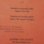 Anunci de l'exposició d'obres de Pere Pla al Centre Social del Sindicat de Cerdanyola (Any 1994?) (Arxiu Pla)