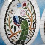 Un dels medallons d'au del passadís (Arxiu Lázaro)