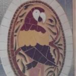 Un altre dels medallons d'au del passadís (Arxiu Lázaro)