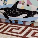 Detall d'una orca al frontal de la banyera (Arxiu Lázaro).  Imatge Tito Vera.