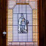 Vidriera emplomada del bany (Arxiu Lázaro).  Imatge Tito Vera.