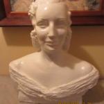 Bust amb guix de 55 x 45 cm d'Adelaida Monteys, atribuït possiblement a l'escultor Josep Viladomat i Massanes, propietat d'un servidor.