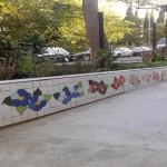 Jardinera de ceràmica modernista finalitzada (col·locació i vorada final), juny 2015 (Fotografia: Arxiu AAPC)