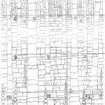 Fragmentació de les 12 fraccions del mosaic-mural per poder treballar per parts (Fotografia: Arxiu AAPC)