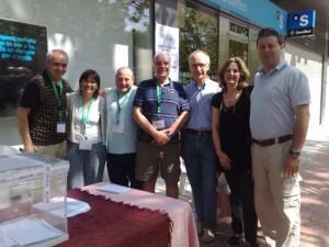 Enric Pallàs (tercer per la dreta), ex coordinador de l'ANC de Bellaterra