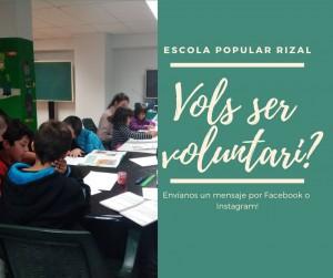 L'Escola Popular busca voluntàries, t'animes?