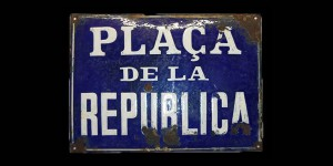 Placa de carrer plaça republica_alta